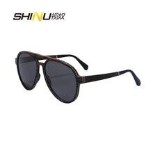 新しいファッションデザイナー積層木製サングラス偏男性女性パイロットサングラス運転メガネ夏ゴーグルSH73001