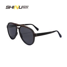New Fashion Designer Laminated Wooden Sunglasses Polarized Man Women Pilot Sunglasses Driving Glasses Summer Goggle SH73001