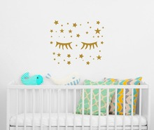 Wall Decal Quote Sweet Dreams Fairy Vinyl Sticker Nursery Decor and Moon Decals A4-003