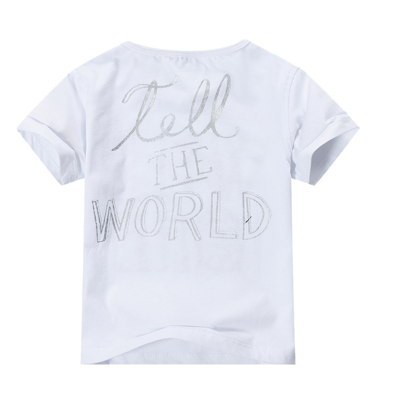 2018 Baby Girls Clothes T-Shirts Short Sleeve Fashion Girls Jumpers Outfits Summer kids tops polo shirt brand new 100% Cotton
