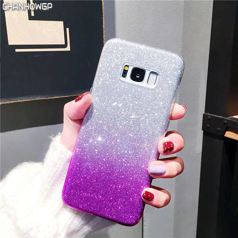 Bling Gradient Case for Samsung Galaxy S5 S6 S7 edge S8 S9 Plus Note 8 A3 A5 2016 J3 J5 J7 Neo 2017 J2 Pro Prime A8 2018 Cover