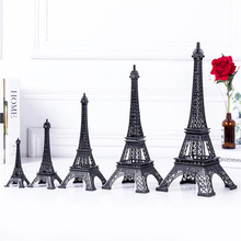 Cake Topper Eiffel Tower Decor Pure Blue Color Tower Zinc Alloy Home Decoration Improvement Gift Five Sizes