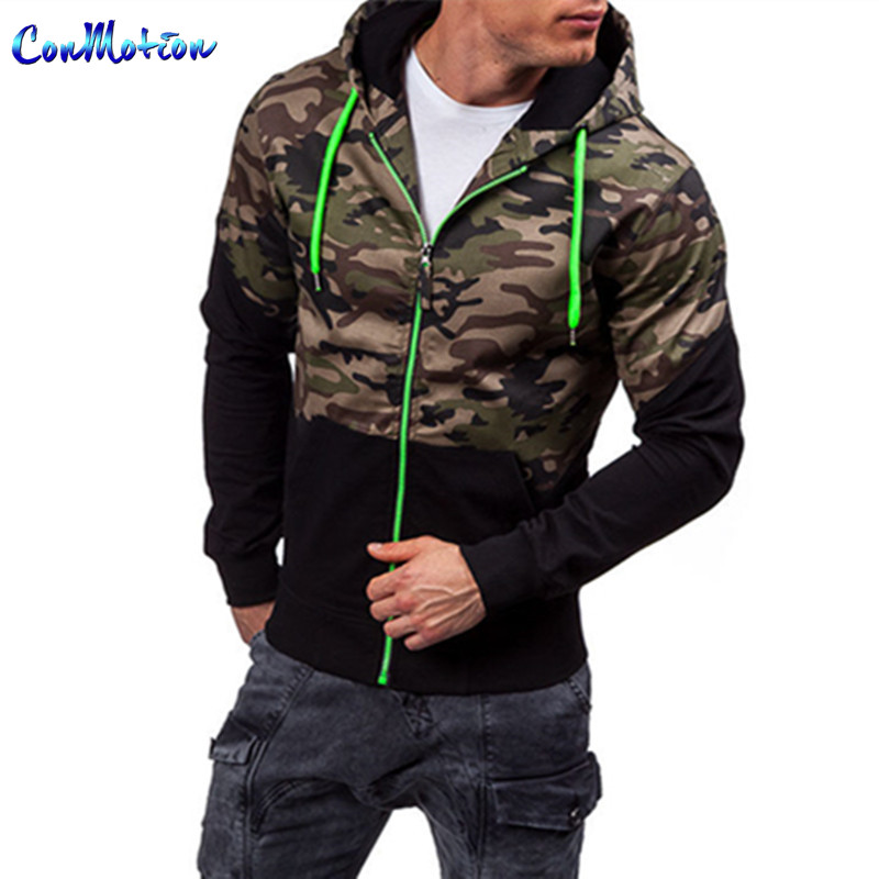 Men 's Camouflage Jacket New 2017 Fashion Military Hooded Jackets&Coats Brand Clothing