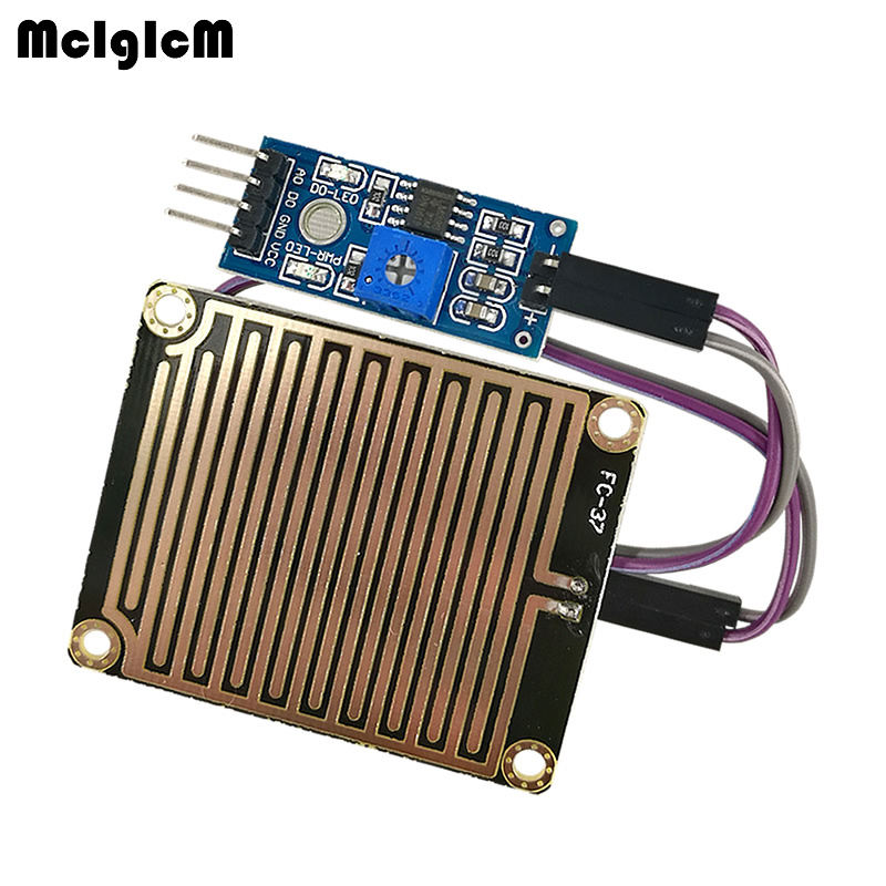 MCIGICM Rain Raindrops controller module detection Rainwater Foliar Sensitivity sensor Power Module