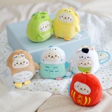 Hot sale 6 styles Japan Cute Mini sirotan tata seal cos chicks plush doll keychain bags pendant Animal Seal stuffed Toys