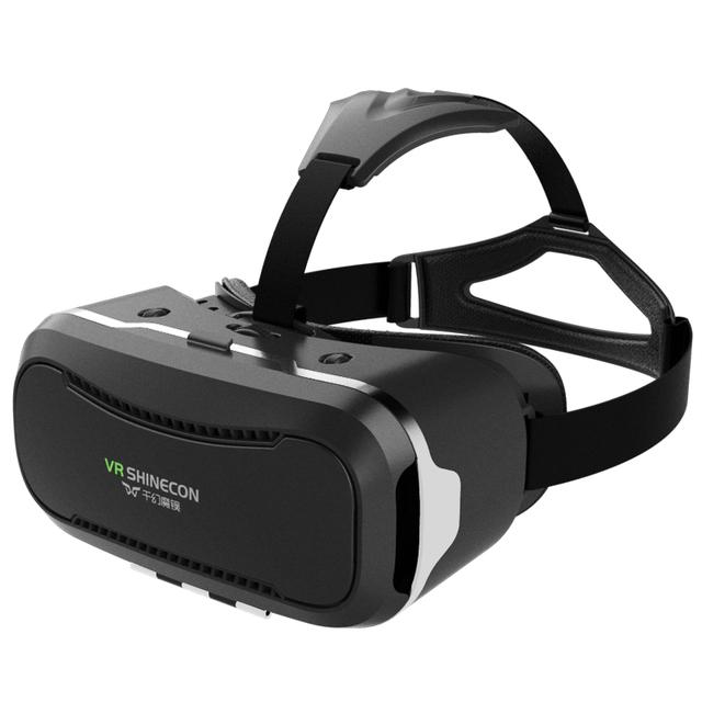 Shinecon vr vr 2.0 headset óculos de realidade virtual 3d imersiva capacete caixa de cabeça de montagem para 4.5 '-6.0' telefones google papelão quente