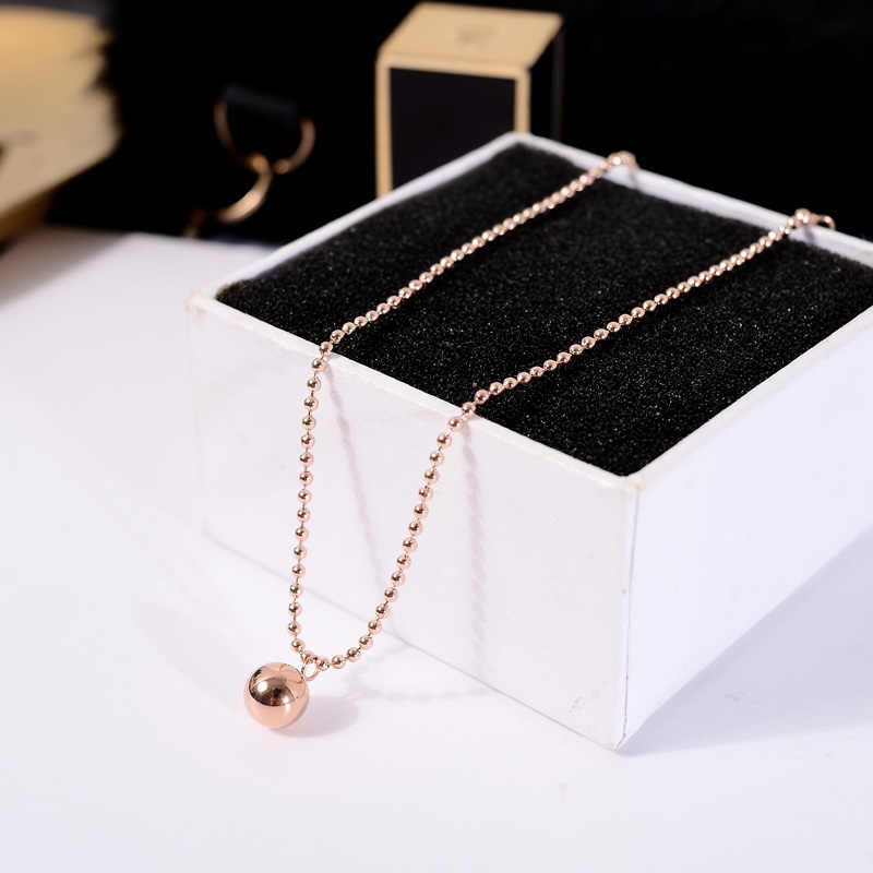 YUN RUO 2018 Fashion Rose Gold Color Round Pendant Anklet Chic Style Woman 316 L Titanium Steel Jewelry Top Quality Never Fade