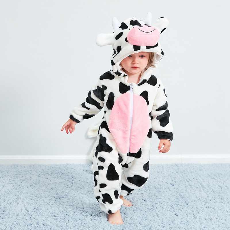 Комбинезоны с героями мультфильмов для новорожденных, модные теплые комбинезоны с капюшоном с объемными животными, теплые зимние комбинезоны для мальчиков и девочек, детский комбинезон, детская одежда
