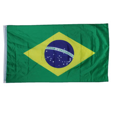 New 3x5 Feet Large Brazilian Flag Polyester the Brazil National Banner Home Decor(China)