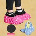 DreamShining Um Par Fresco Estilo Grosso Sapato Tecido Cobre do Agregado Familiar Pode Ser Lavado Repetidamente Respirável Não-Deslizamento Sapatos Cobrir