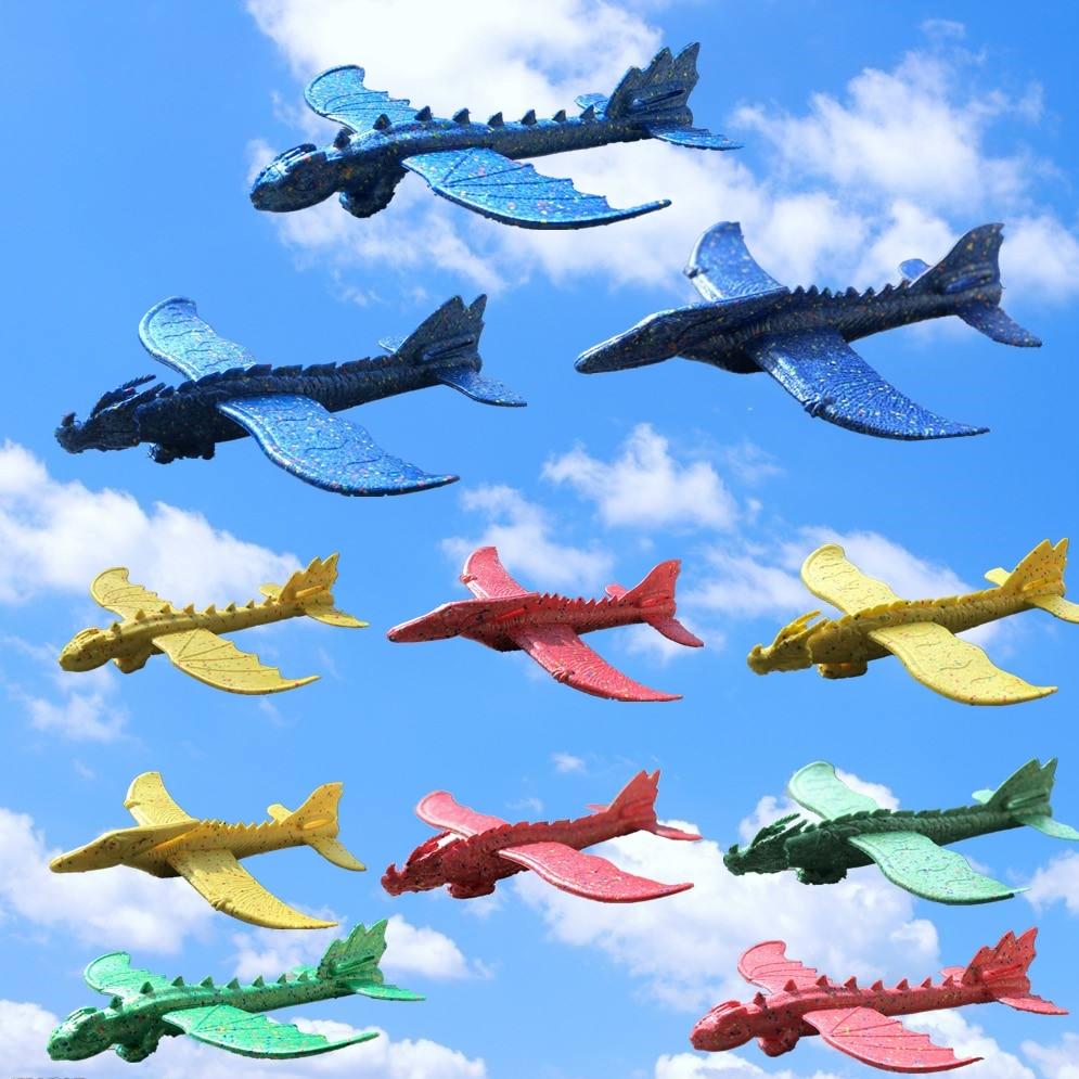 Avion EPP à inertie, Train de dinosaures, modèle d'avion Dragon, jouets éducatifs à l'extérieur, lancement à la main de 48cm 2