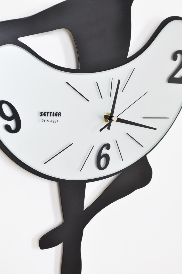siton ballet wrought iron wall clock mute creative fashion watches  - siton ballet wrought iron wall clock mute creative fashion watches modernart dance room clock pocket watchin wall clocks from home  garden on