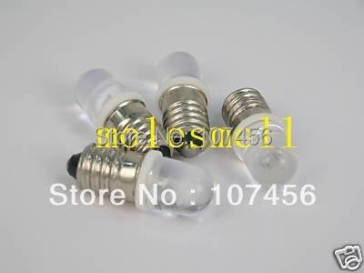 Free Shipping 10pcs Warm White E10 6V Led Bulb Light Lamp For LIONEL 1447