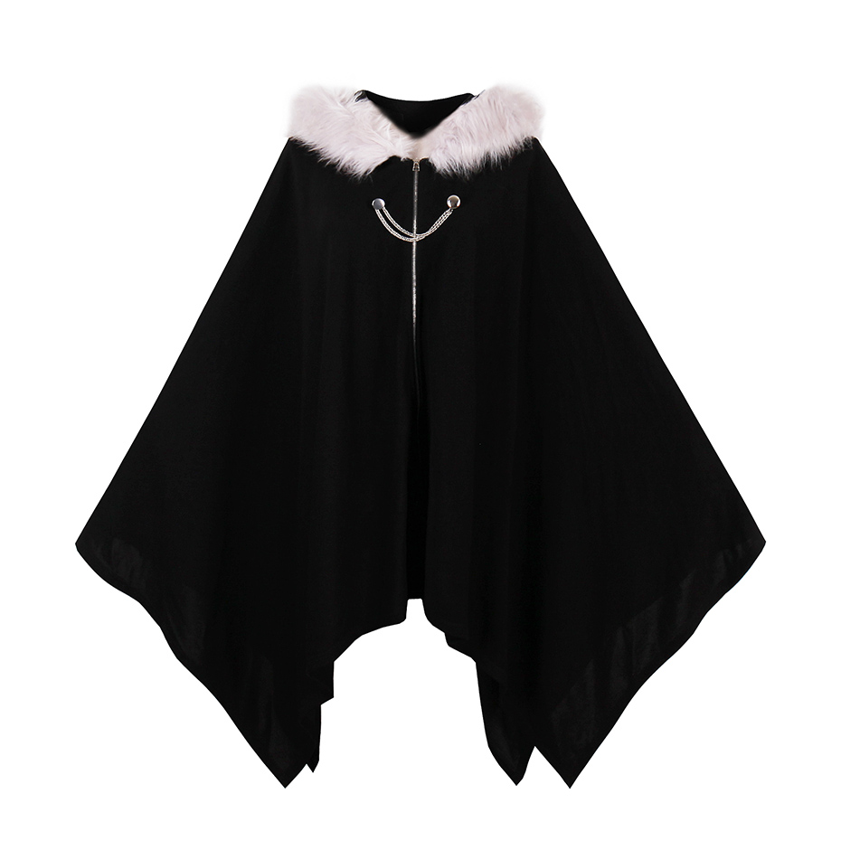 Sisjuly Gothic Cloaks Black Women Winter