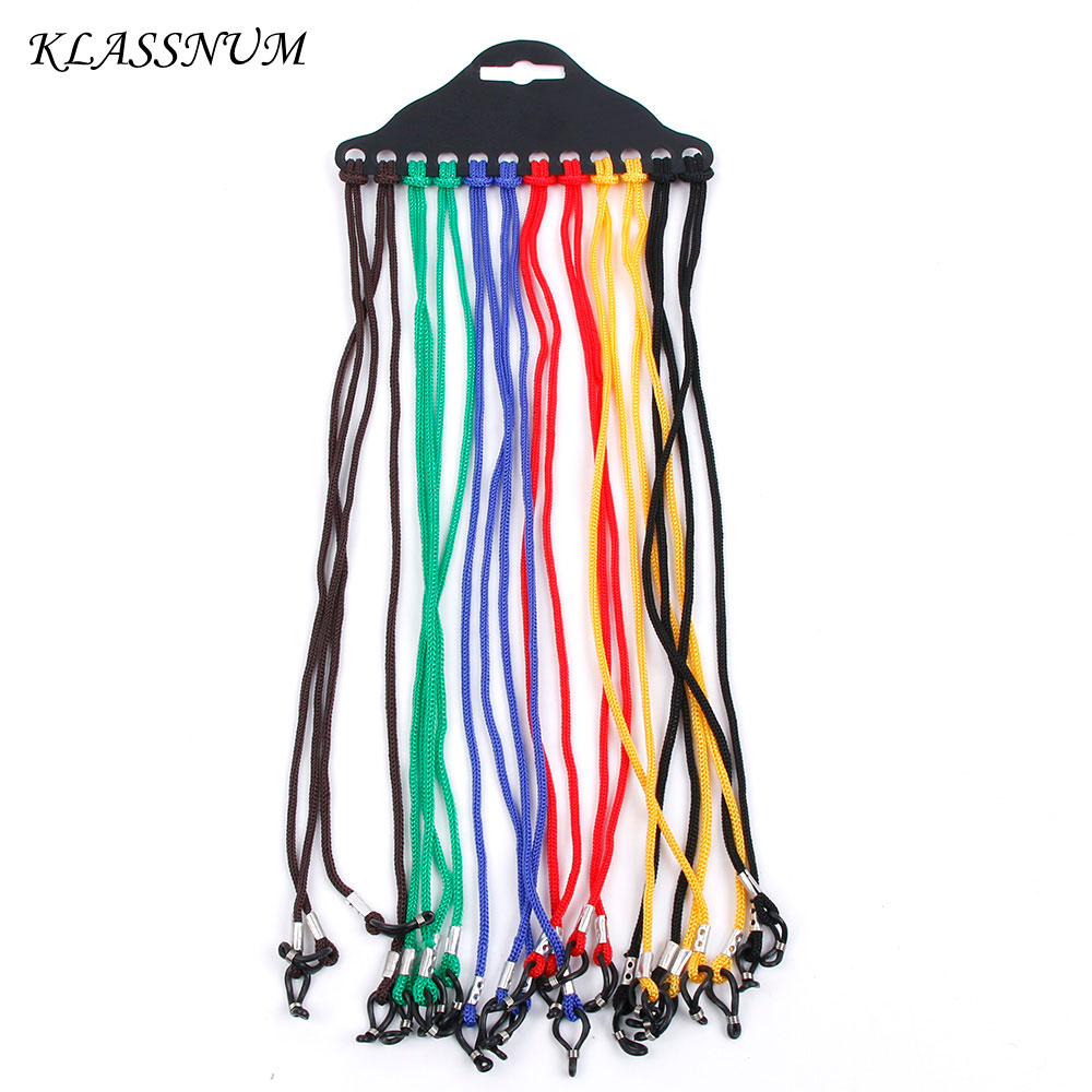 Glasses Neck Cord Strap String Lanyard Chain Sunglasses Reading Spactacles 12 Pcs Random Ear Grips Eyewear Accessories
