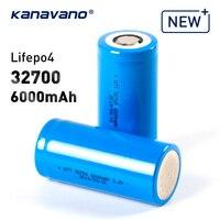 Kanavano 32700 3.2V 6000mAh lifepo4 cellula di batteria ricaricabile LiFePO4 5C scarica della batteria per Torce A LED luci Di Emergenza