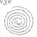 925 Sterling Silver Chain Accessories for Women Men Fine Jewelry 100% S925 Silver 40cm 45cm Bling Bling Chains DN29