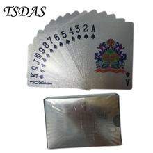 Certified Silver Plated Playing Card 52 Cards & 2 Jokers, 500 EURO Silver Poker Cards Great Christmas Gift
