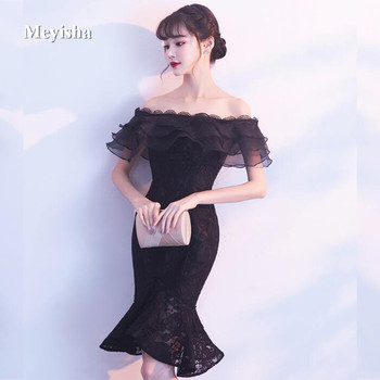 ZJ7007 New Tulle Lace Burgundy Black Ivory Cocktail Dress 2017 short Party Dresses Formal Prom gowns Fishtail Mermaid Dress