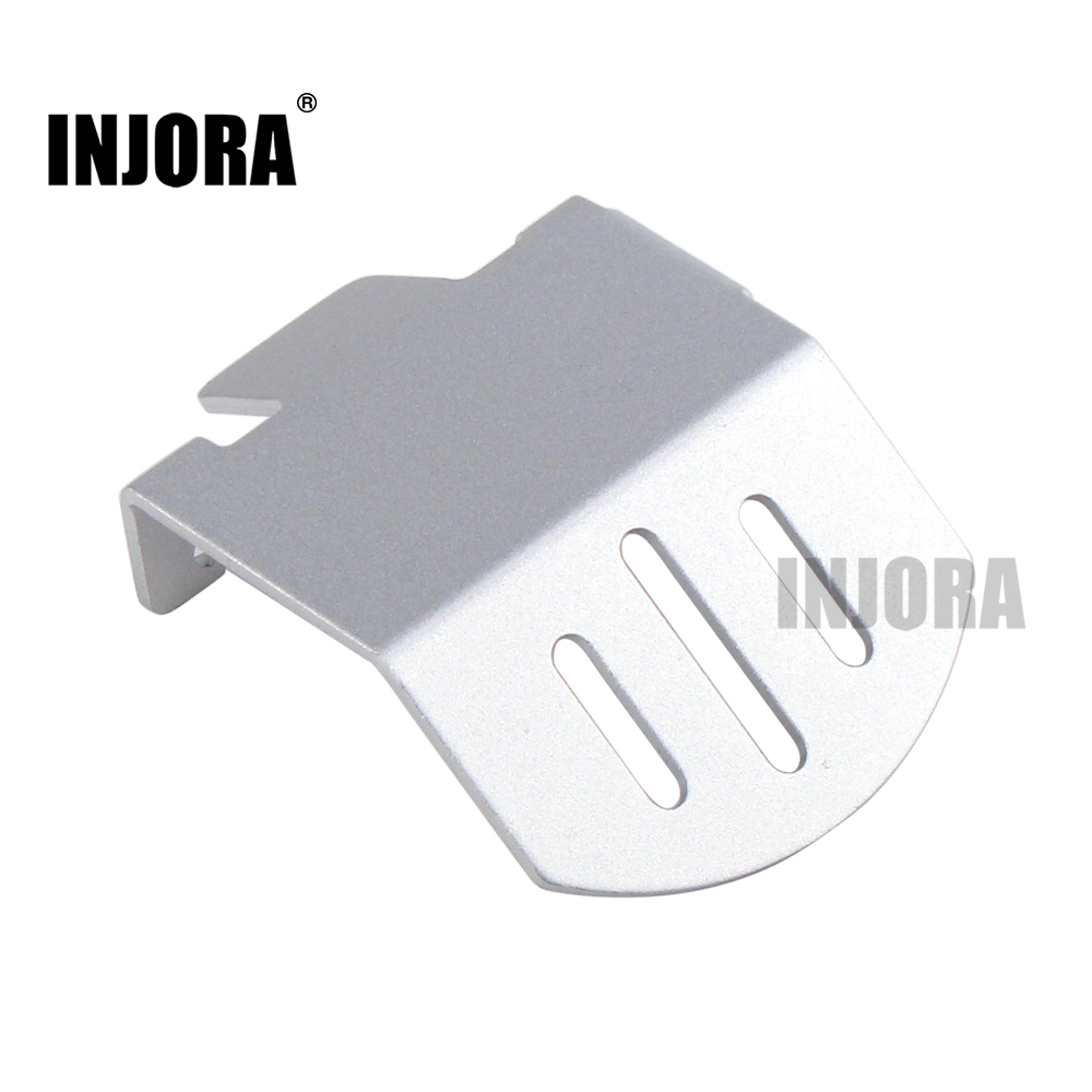 INJORA Aluminium Alloy TRX4 Axle Protector Guard Plate for 1/10 RC Crawler Traxxas TRX-4 TRX 4 injora trx4 mud flaps rubber fender with ford sticker for 1 10 rc crawler traxxas trx 4 82046 4 ford bronco ranger xlt
