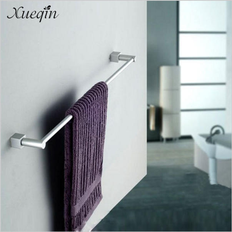 Xueiqn Aluminum Wall Mounted Bathroom Bath Towel Rack Bar Hotel Home Clothes Towel Holder Storage Rail Shelf 2016 high quality brass and jade bathroom towel rack gold towel holder hotel home bathroom storage rack rail shelf towel rail