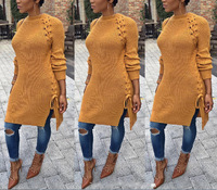 High Quality Knitting Sweaters Dresses Women Casual Pencil Vestidos Pullovers Long Sweater Winter Autumn
