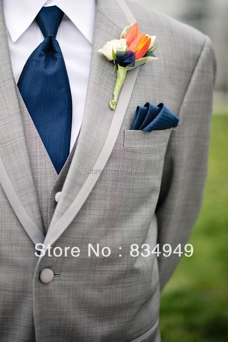 Пепельно серый Свадебный костюм для мужчин, костюм жениха из 3 предметов на заказ, серый свадебный смокинг, свадебный костюм Terno Para Noivo