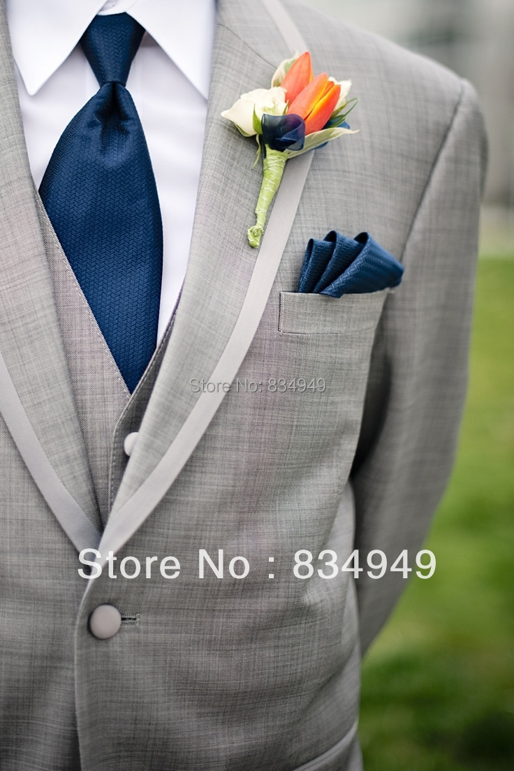 Aliexpress.com : Buy Ash Grey Wedding Suits For Men 3 Piece Groom ...