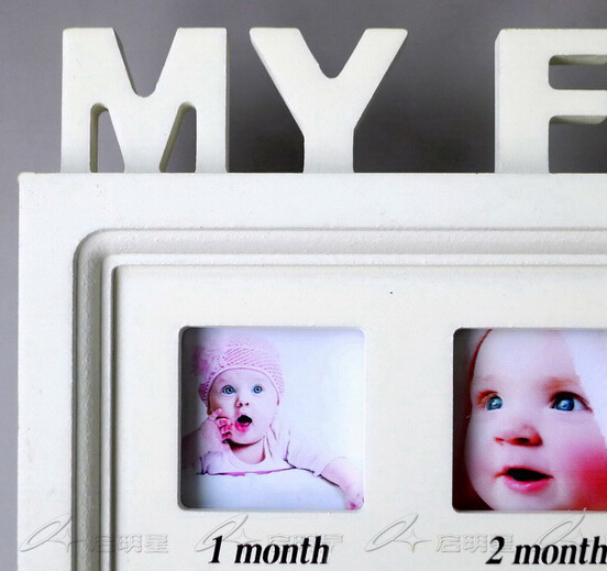 Baby\'s First Year 12 months month Baby Frame set table/Hanging ...