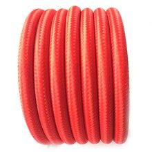 Màu đỏ Cổ Cổ Điển Edison Màu Sắc Phong Cách Vải Bao Phủ Bện 2 Dây Vòng Dây Vải Ánh Sáng Cáp