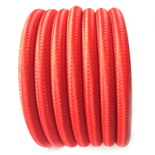 Red Antique Vintage Edison Style Color Cloth Covered Braided 2 Wire Round Cord Lighting Fabric Cable