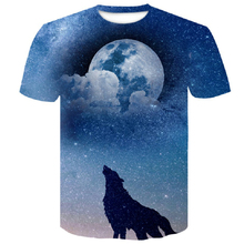 цены на brand man clothes New 3D shirt under the moonlight Wolf fashion men's t-shirt Summer street casual short-sleeved Cool T-shirt  в интернет-магазинах