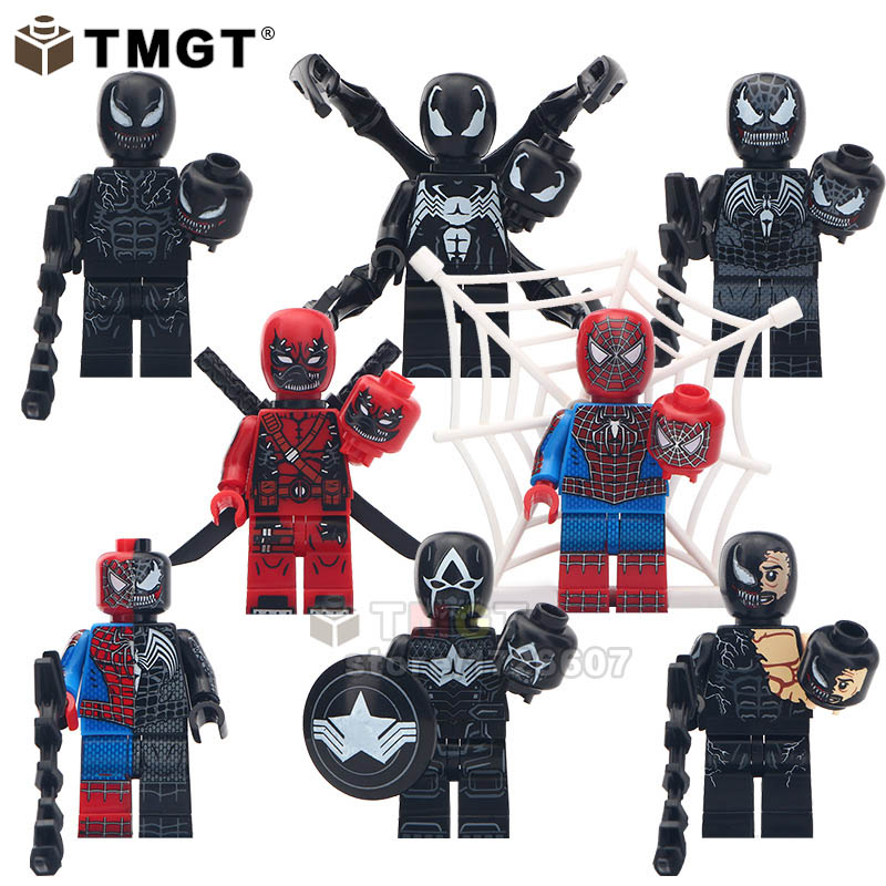 8pcs/lot Superman Vemon Deadpool Spider Man Wolverine Model Building Block Bricks Toys For Children Gifts Legoingly Promoting Health And Curing Diseases Toys & Hobbies