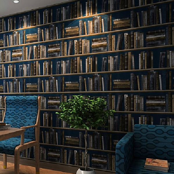study background bookshelf chinese wall paper american 3d rolls zoom wallpapers parede papel