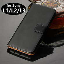 Premium Leather Case for Sony L2 Xperia L3 Flip Cover Luxury Wallet Case for Sony Xperia L1 L2 L3 phone shell GG