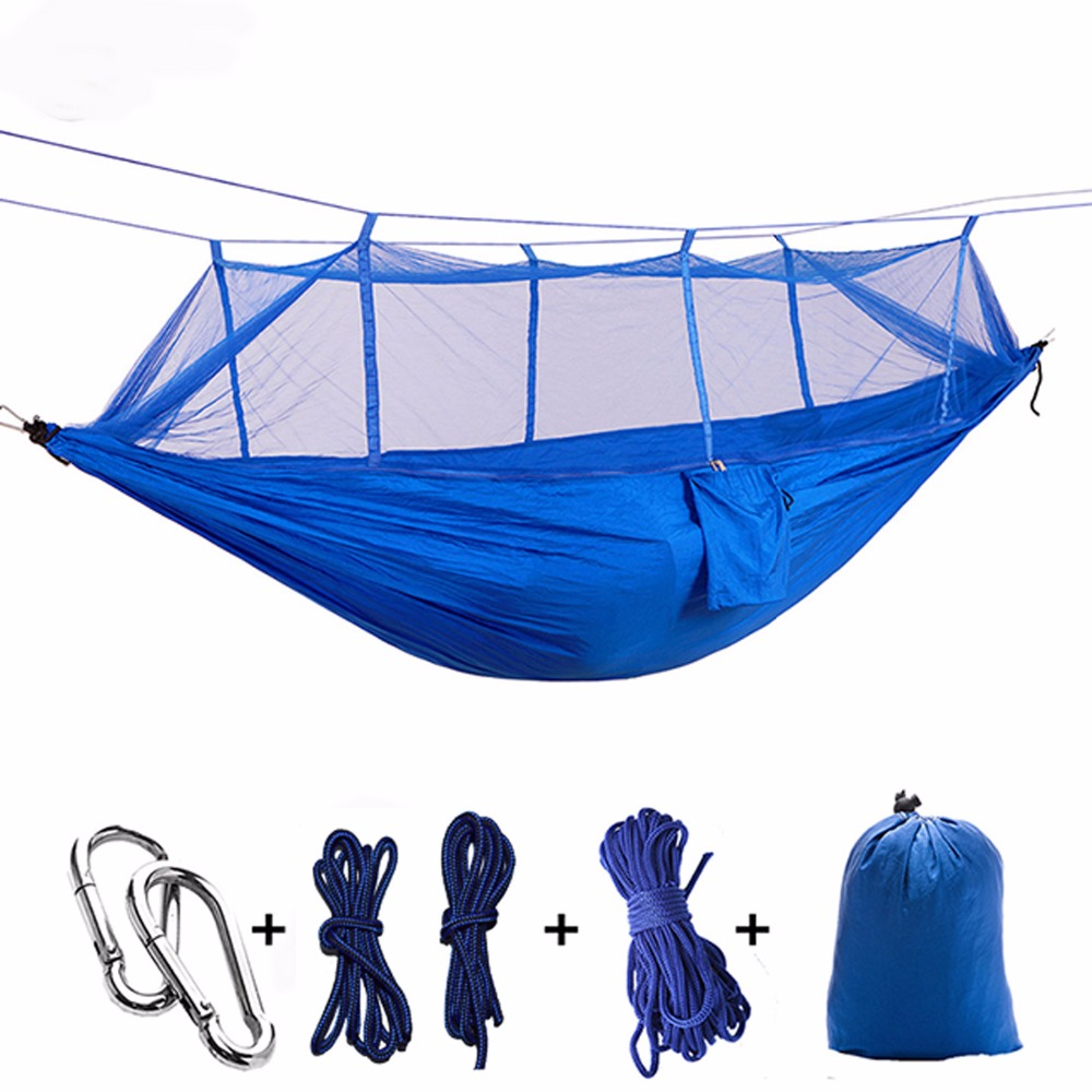 Ultralight Parachute Hammock Hunting Mosquito Net Hamac Travel Double Person Hamak for Camping Outdoor Furniture Hammock