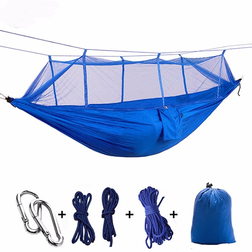 Ulm Parachute Hamac Chasse Moustique Net Hamac Voyage Double Personne Hamak pour Camping En Plein Air Meubles Hamac