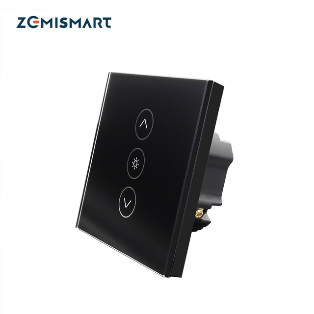 Zemismart EU Dimmer Swith Wall Touch Switch Work with Alexa Google Home Support Timer Brighter Control AC 85-240 Crystal Glass