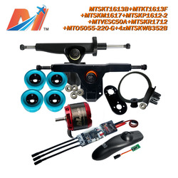 Maytech electric surf board 5055 220kv sensorless motor and SuperEsc based on vesc with remote and pulley with mount and truck