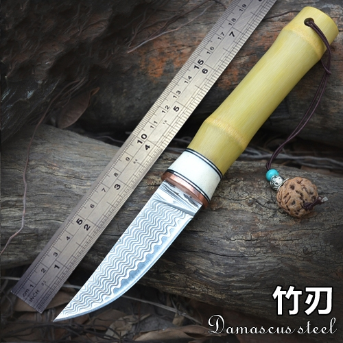 Damascus Nordic small knife hand forged steel knife pattern steel technology in Yangjiang cooking knife tool Free shipping bestlead chinese peony pattern zirconia ceramics 4 6 knife chopping knife peeler holder