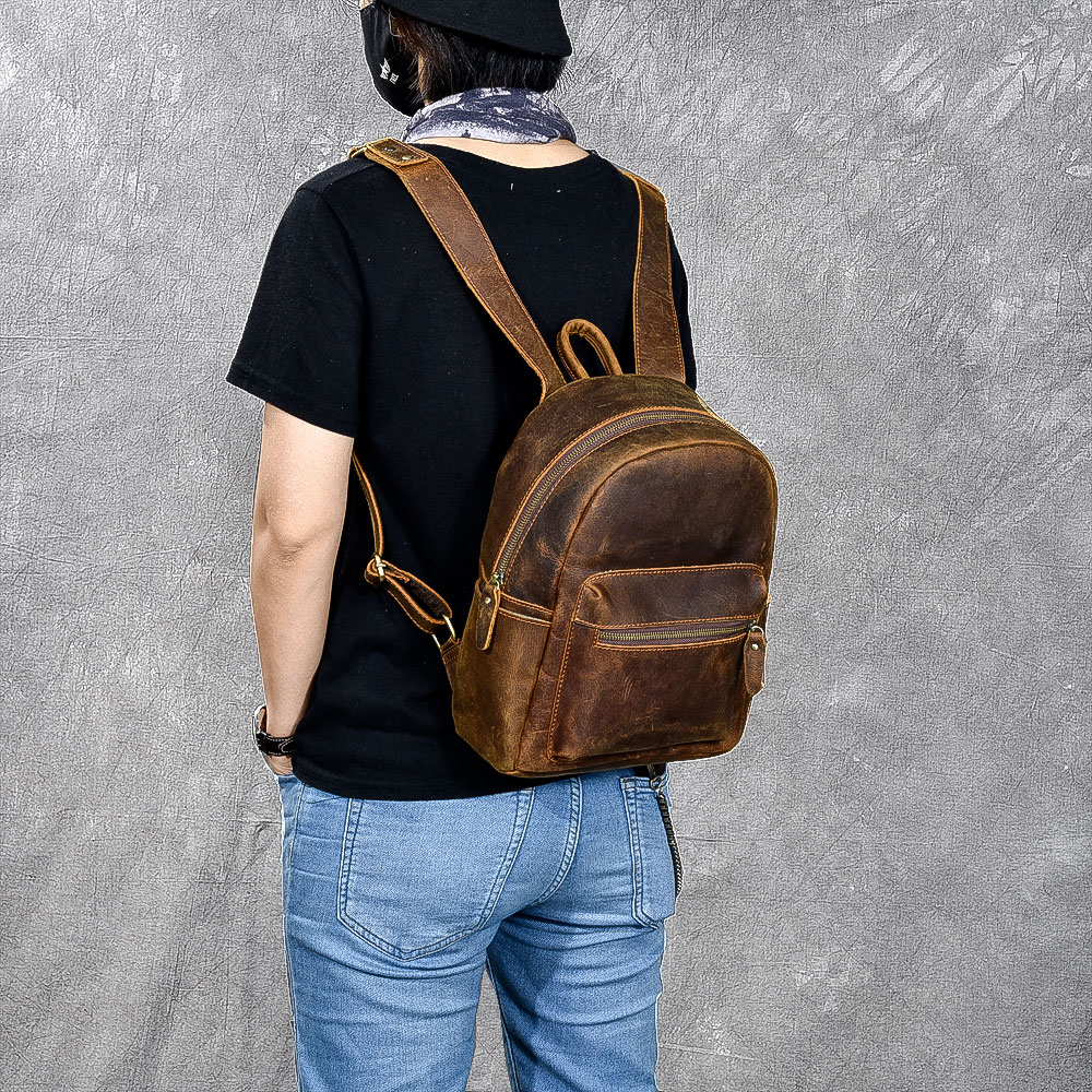 vintage crazy horse genuine leather Oil backpack bag mochilas escolares para adolescente meninas backpack school women mini bagvintage crazy horse genuine leather Oil backpack bag mochilas escolares para adolescente meninas backpack school women mini bag