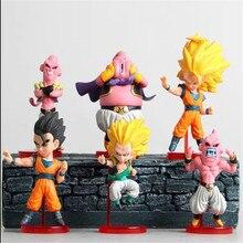 brand 6pcs/set 8-10cm Anime Dragon Ball Z Figures The Monkey King Goku PVC Action Figure Cartoon Toy