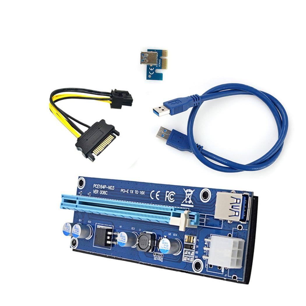 New PCI-E Riser Card USB 3.0 Extender Cable Power Cord Graphics Mining Cable PCIE Extension storage cable