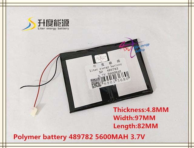 3.7 V 5600 mAh 489782 bateria De Polímero de iões de lítio/bateria do Li-íon (celular ATL) para tablet pc pipo cubo BANCO de POTÊNCIA telefone celular GPS