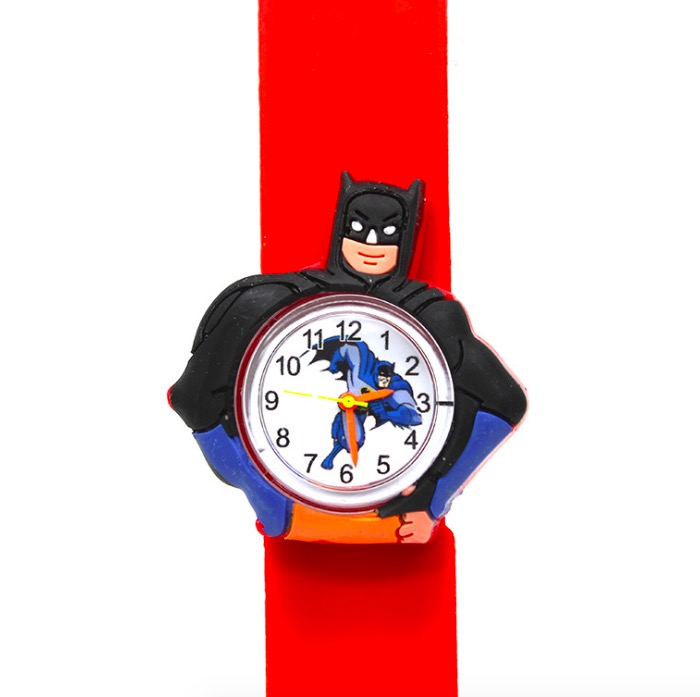 Children's Watches 3d Cartoon Toys Lovely Gift Patted Wristwatch Anime Patted Watch Silicone Strap Child Quartz Watch