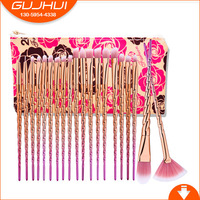 20PCS Eye Makeup Brush Set Makeup Tool Thread Unicorn Rose Gold Brush GUJHU