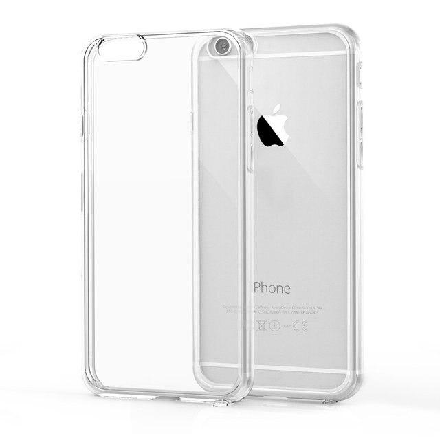 49b2390ed6b Transparent Clear Soft Silica Gel TPU Case Silicone Coque for iPhone X 5 5S  SE 5C 6 6S 7 8 Plus Ultra Thin Mobile Case Fundas
