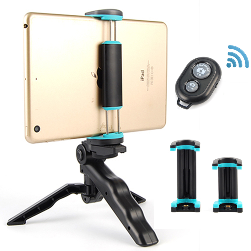 HOTR Bluetooth Selfie Tripod with Wireless Bluetooth Remote Control Button Selfie Stick Extendable Mobile Phone Tripod Holder cell phone tripod with bluetooth remote control mobile phone selfie stick mini tripod for sport camera light monopod with clip