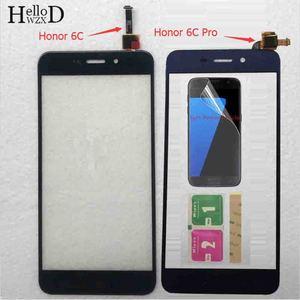 Telefon komórkowy z ekranem dotykowym dla Huawei Honor 6C/Honor 6C Pro szkło dotykowe ekran dotykowy digitizer panel dotykowy szklana folia ochronna