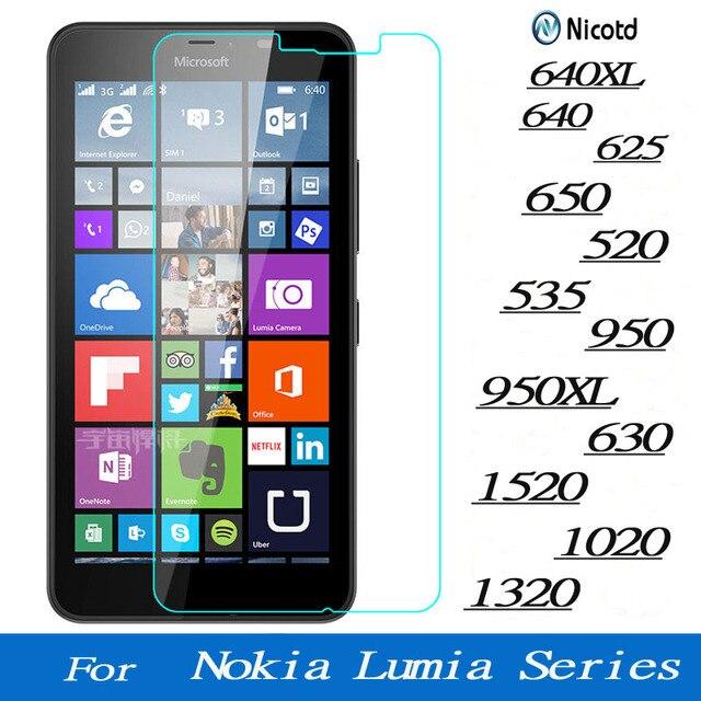 Màn Hình Kính Cường Lực Cho Microsoft Lumia Nokia 640 640XL 950 950XL 650 520 535 630 1520 1020 1320 625 Cao Cấp bảo Vệ